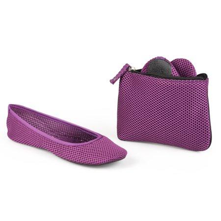 Sidekicks Mesh Foldable Ballerina Flats - Multiple Colors Available