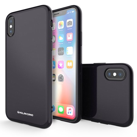 online retailer c1782 2ad06 iPhone 10 Case, Molan Cano [Pearl Jelly] Thin Protective Shock Absorption  Bumper for Apple iPhone X - Black