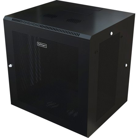 Startech RK1224WALHM 12U Wall Mount Rack Cabinet With (Master Hinged Catalog Rack)