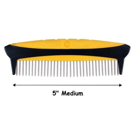 Dog Grooming Rotating Pin Combs Groomers Tool Medium Coarse or Fine Choose Size (Medium - 5