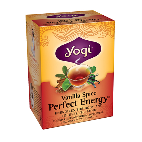 Yogi Vanilla Spice Perfect Energy Herbal Supplement Tea Bags - 16 Ea