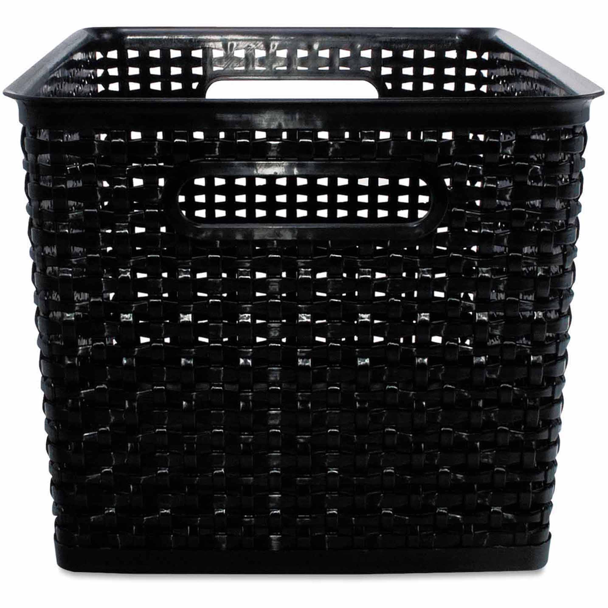 Advantus Weave Bins, Black, 2 Bins