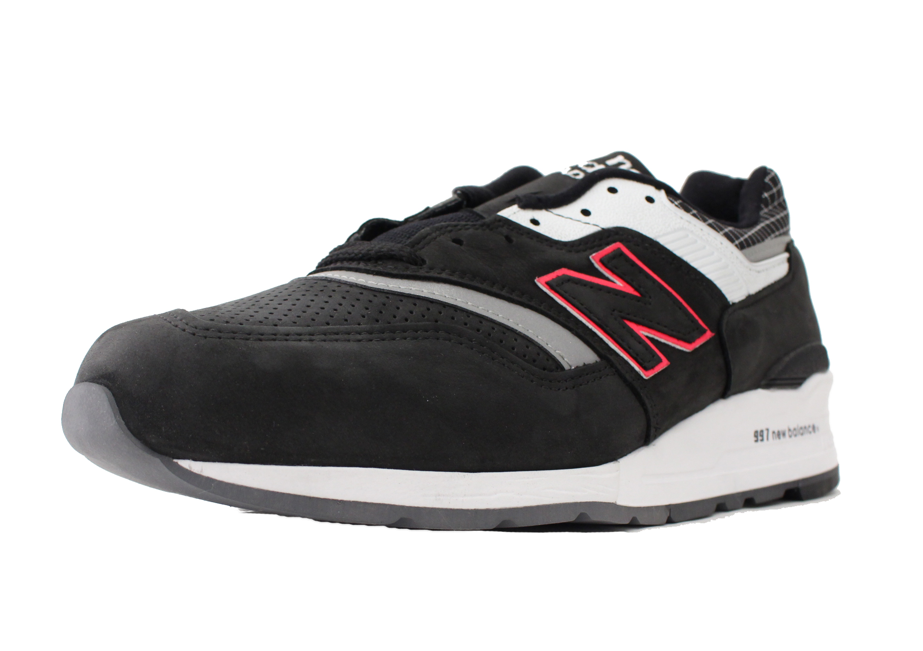 NEW BALANCE 997 SZ 10.5 BLACK GREY PINK MADE IN USA M997CR