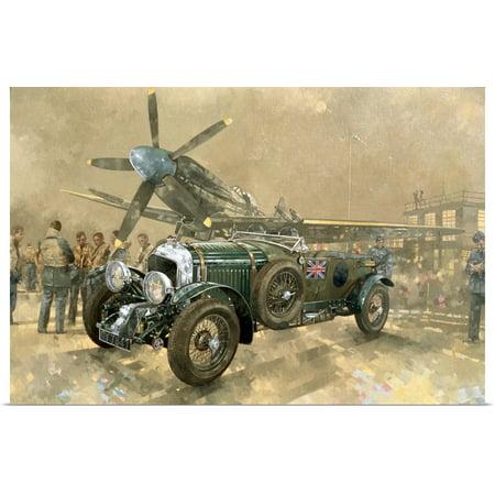 (Great BIG Canvas | Rolled Peter Miller Poster Print entitled Bentley and Spitfire)