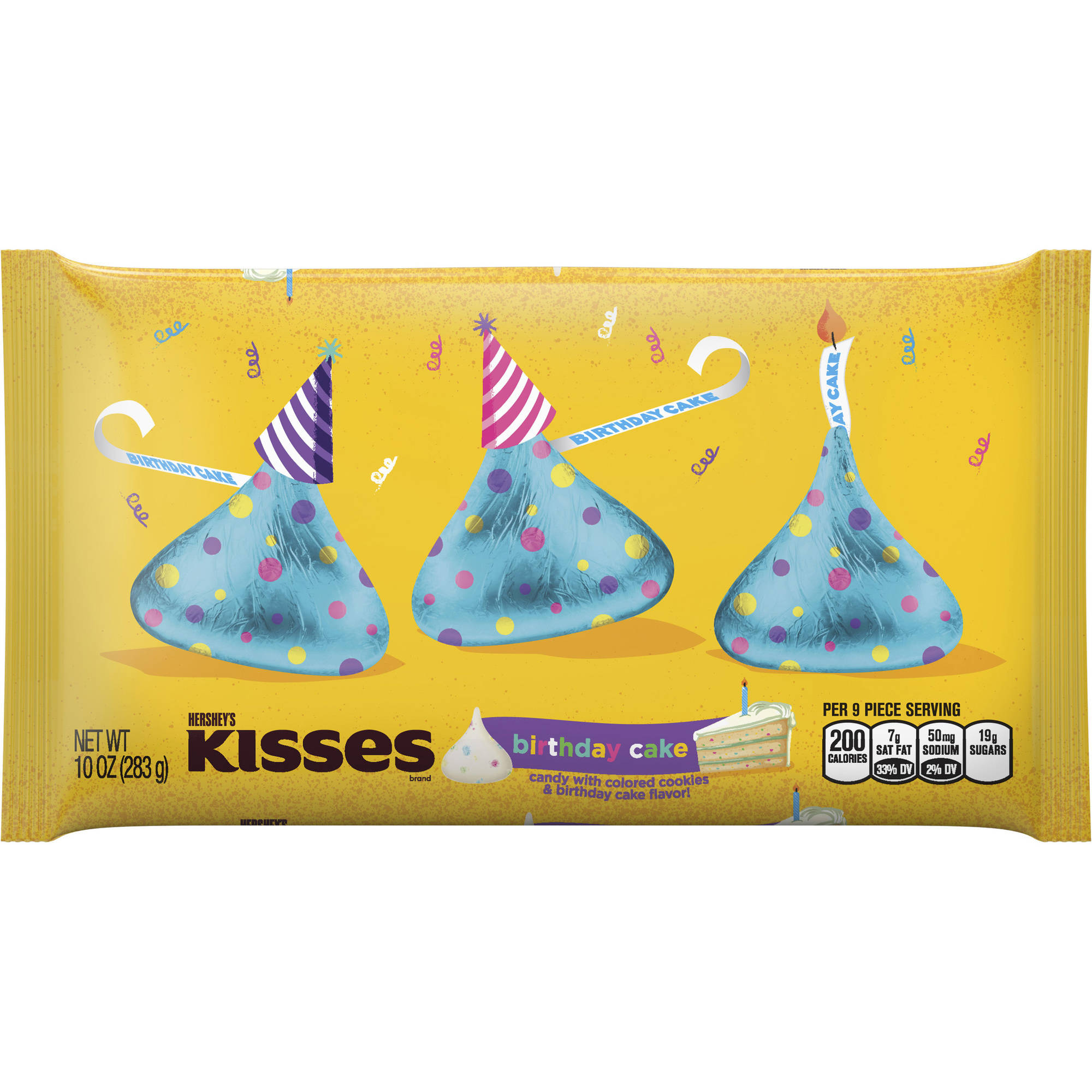 KISSES Birthday Cake Flavored Candies, 10 Ounces