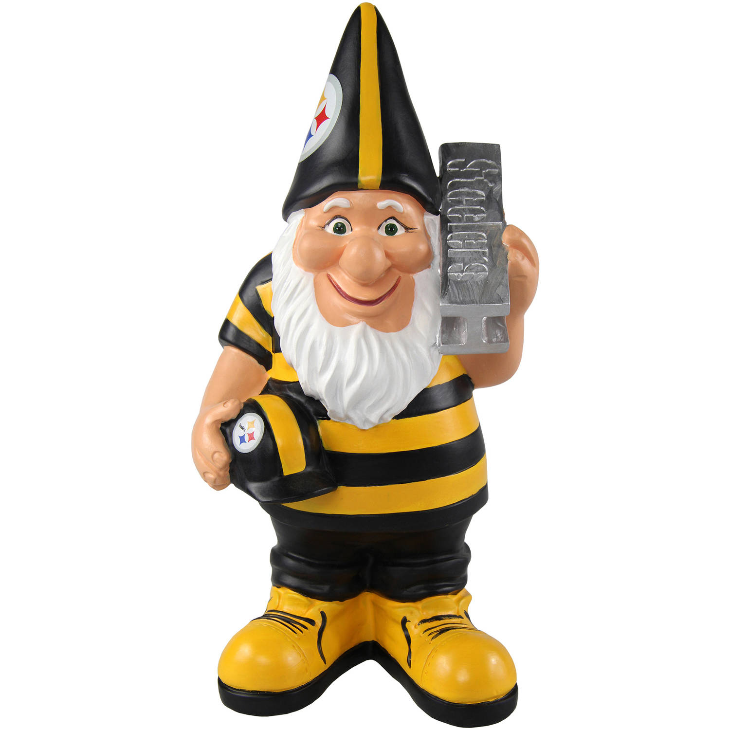Forever Collectibles NFL Caricature Garden Gnome, Pittsburgh Steelers