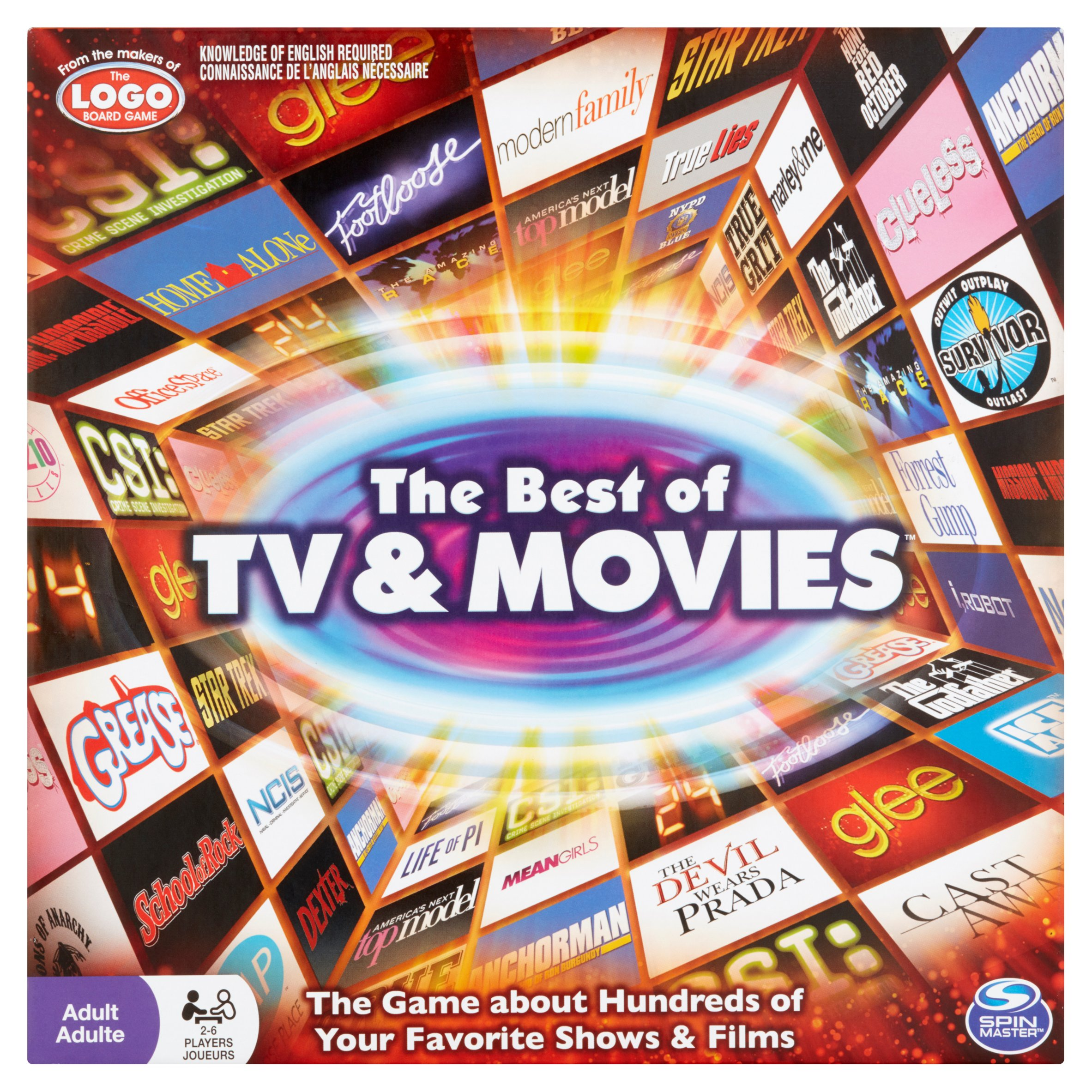 Spin Master The Best of TV & Movies Board Game Adult