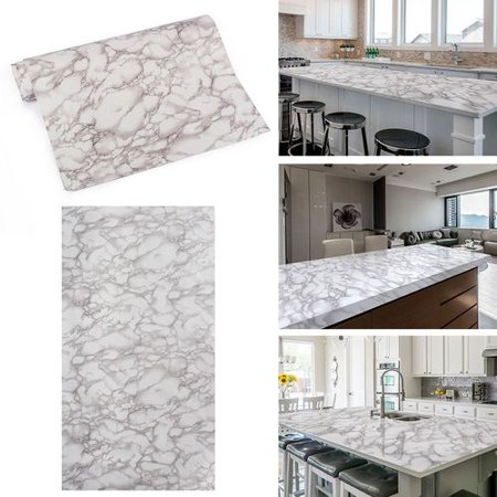 KABOER Marble Granite White Texture Wallpaper Wall Sticker Table Decor 23.6 inch x 39.3 inch Marble Paper Peel (Best Android Tablet Wallpaper)