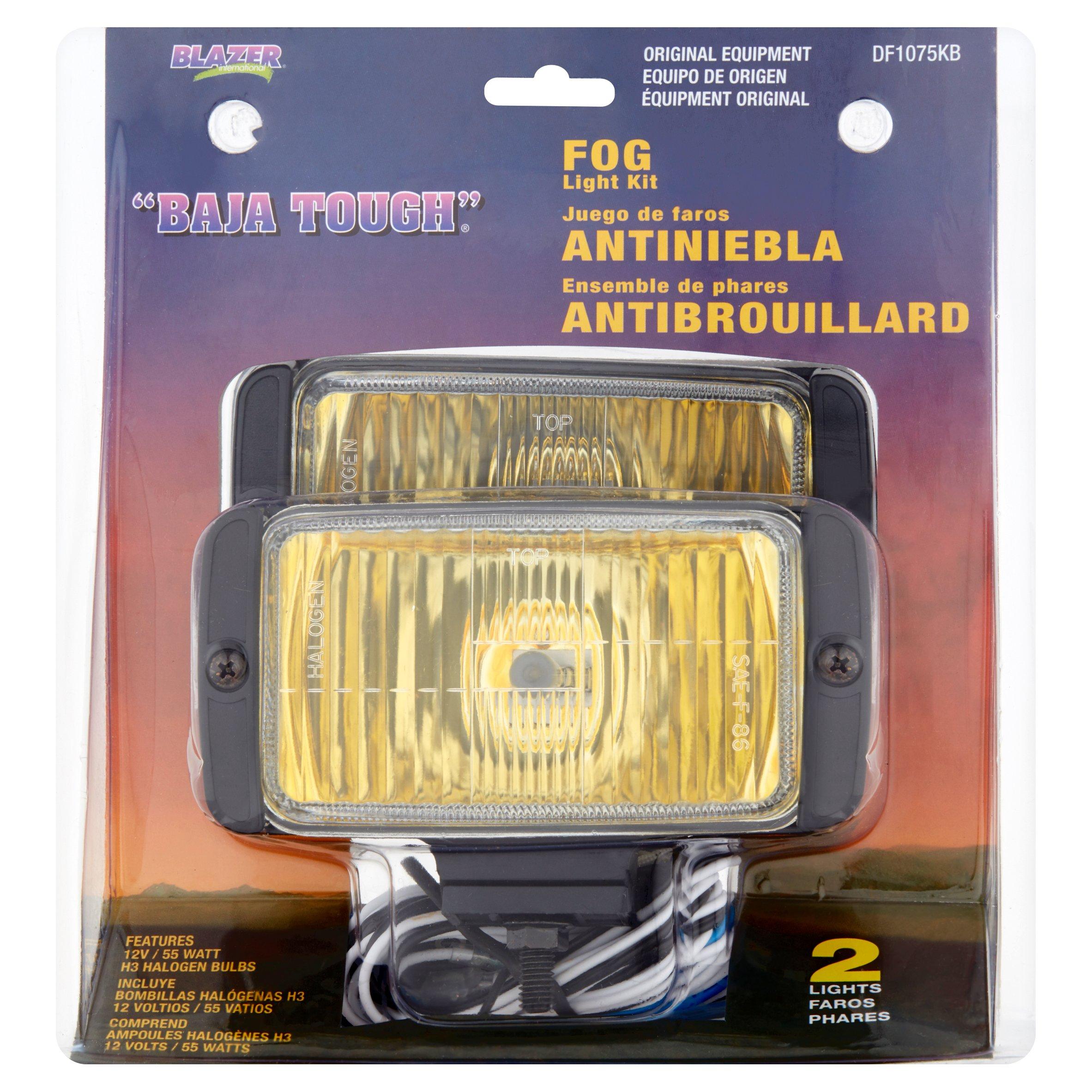 Blazer DF1075KB OE Fog Light Kit Amber Light with Black Housing, Pack of 2 Lights