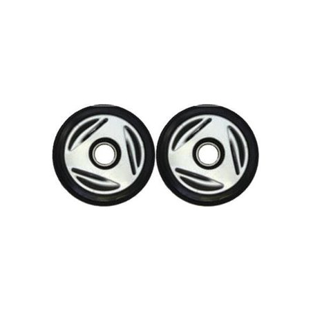 Bombardier Snowmobile Parts (PDD Mid Rail Silver Idler Wheels Kit for Snowmobile BOMBARDIER/SKI-DOO All models Formula/GT/MX 1996-1998)