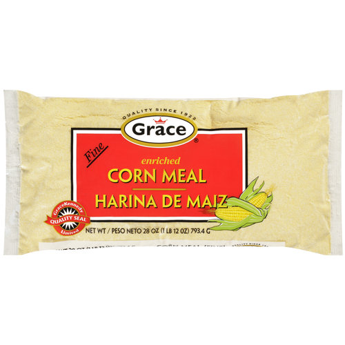 Grace Fine Enriched Corn Meal, 28 oz
