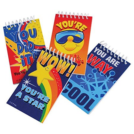 Lot of 12 Assorted Student Reward Mini Notebook Memo Pads - Mini Notebooks