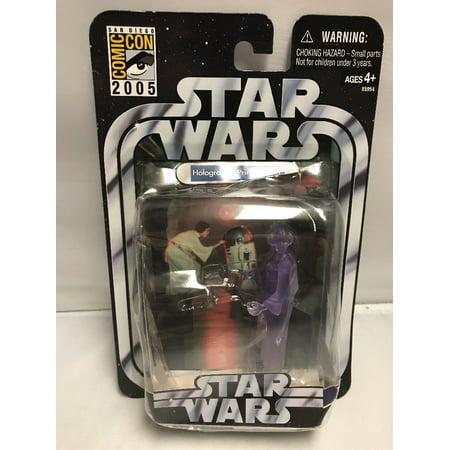 Hasbro Star Wars San Diego Comic Con Exclusive Holographic Princess Leia