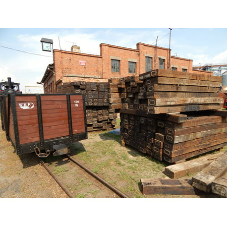 Canvas Print Package Rails Narrow-Gauge Railway Historic Vehicle Stretched Canvas 32 x 24