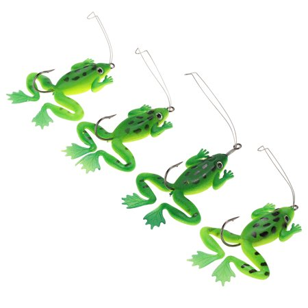 4pcs Artificial Topwater Life-like Fishing Lures Baits Tackle Bait Soft Bait with One Single Hook - image 7 of 7