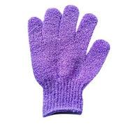 1Pair Shower Gloves Exfoliating Wash Skin Spa Bath Gloves Foam Bath Skid Resist