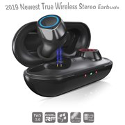 Wireless Bluetooth Earbuds, Hands-free Calling Sweatproof In-Ear Headset Earphone with Charging Case for iPhone/Samsung & Smart Phones, I0361