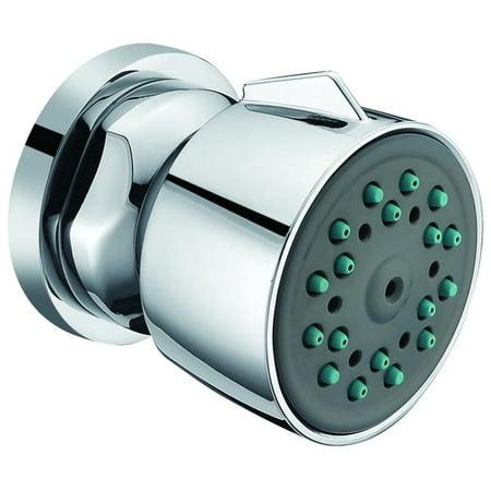 Polished Chrome Modern Round Adjustable Shower Body Spray