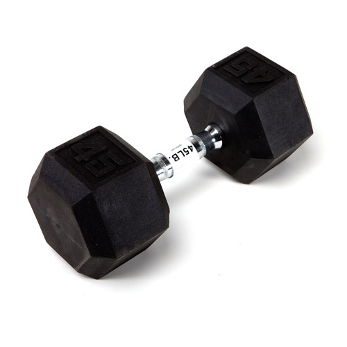 Marcy 45 lb EcoWeight Rubber Hex Dumbbell: IBRH-045