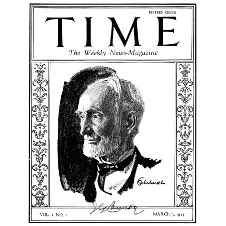 Time Magazine 1923 Ncover Of The First Issue Of Time Magazine 3 March 1923 Featuring A Portrait Of Retiring Us Congressman Joseph G Cannon Of Illinois Rolled Canvas Art     18 X 24