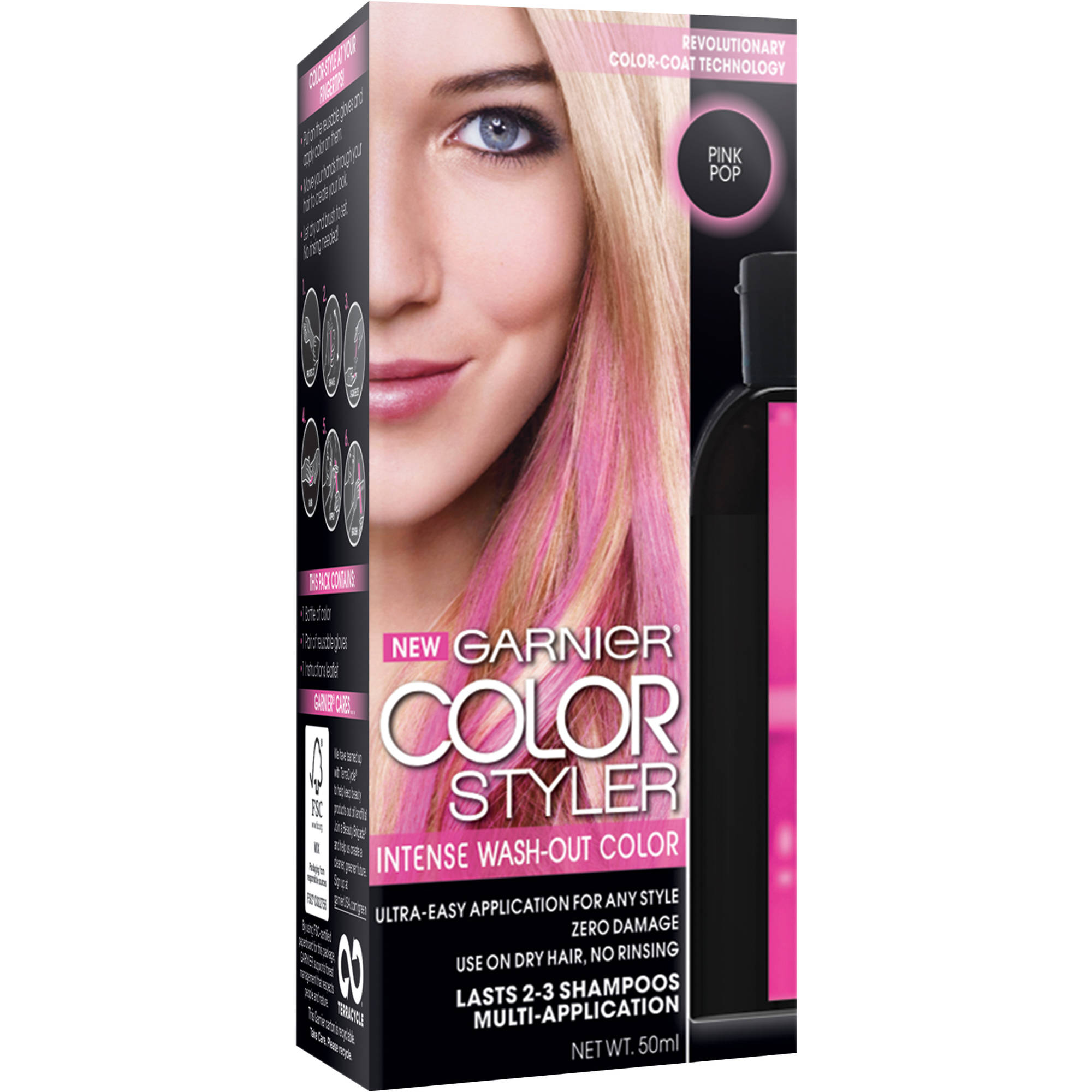 Garnier Color Styler Intense Wash-Out Haircolor, 1.7 fl oz