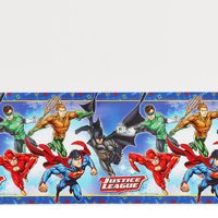"""Justice League Plastic Table Cover, 54"""" x 96"""""""