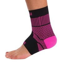 zensah unisex compression ankle support  black  small