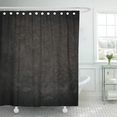 KSADK Granite Black Marble Dark Concrete Vintage Floor Canvas Natural Abstract Shower Curtain Bath Curtain 66x72 (Installing A Shower Base On Concrete Floor)
