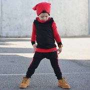 Newborn Baby Child Baby Girl Boy Hoodie Set Long Dress Pants Solid Color Simple and Comfortable Kids Clothes Set