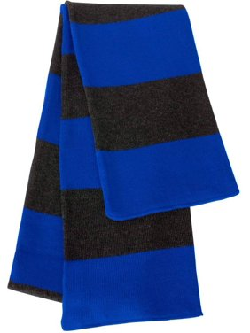 Sportsman - Rugby Striped Knit Scarf, Royal Charcoal