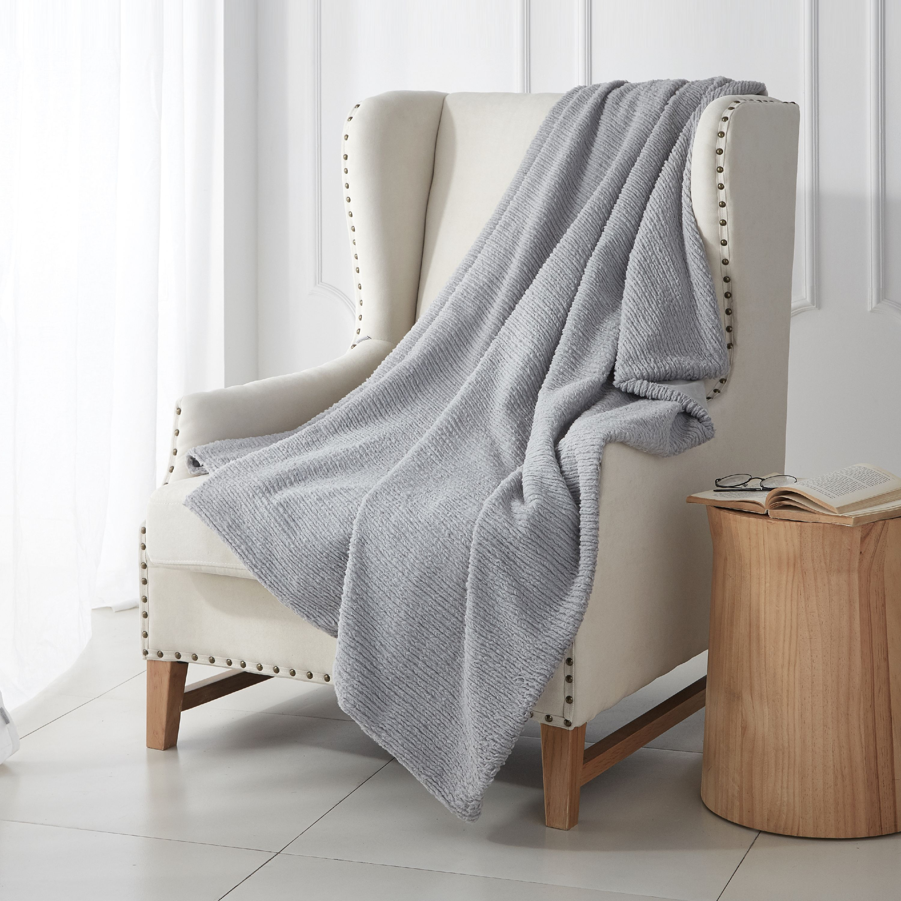 Better Homes & Gardens Grey Braided Throw