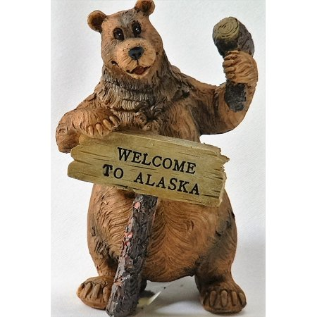 Image of Alaskagift Alaska Moose With Welcome Sign