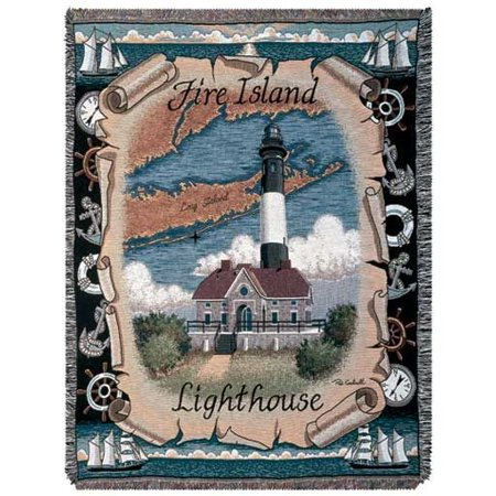Tapestry Throw Fire Island Lighthouse Mid-size Blanket