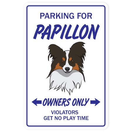 Papillon Novelty Sign | Indoor/Outdoor | Funny Home Décor for Garages, Living Rooms, Bedroom, Offices | SignMission Gift Toy Fun Gag Puppy Vet Kennel Sign Wall Plaque Decoration - Fun Office