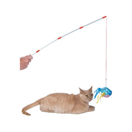 abc pet fishing pole cat toy