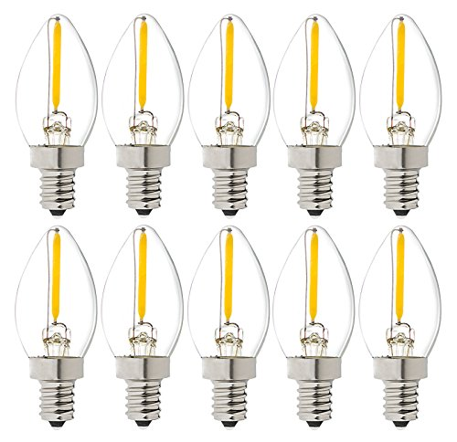 luxrite lr21230 10pack led filament c7 night light bulb 05