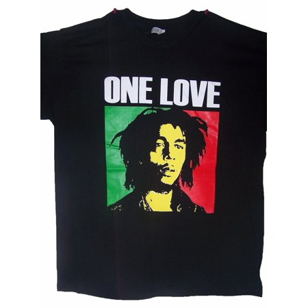 Bob Marley One Love Reggae Rasta US Screen Printed  Cotton  Hip Hop T-Shirts - Gifts  (Rasta Pouch)