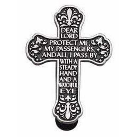 Visor Clip-Cross-Traveler s Prayer (Carded) Prayer Visor Clip