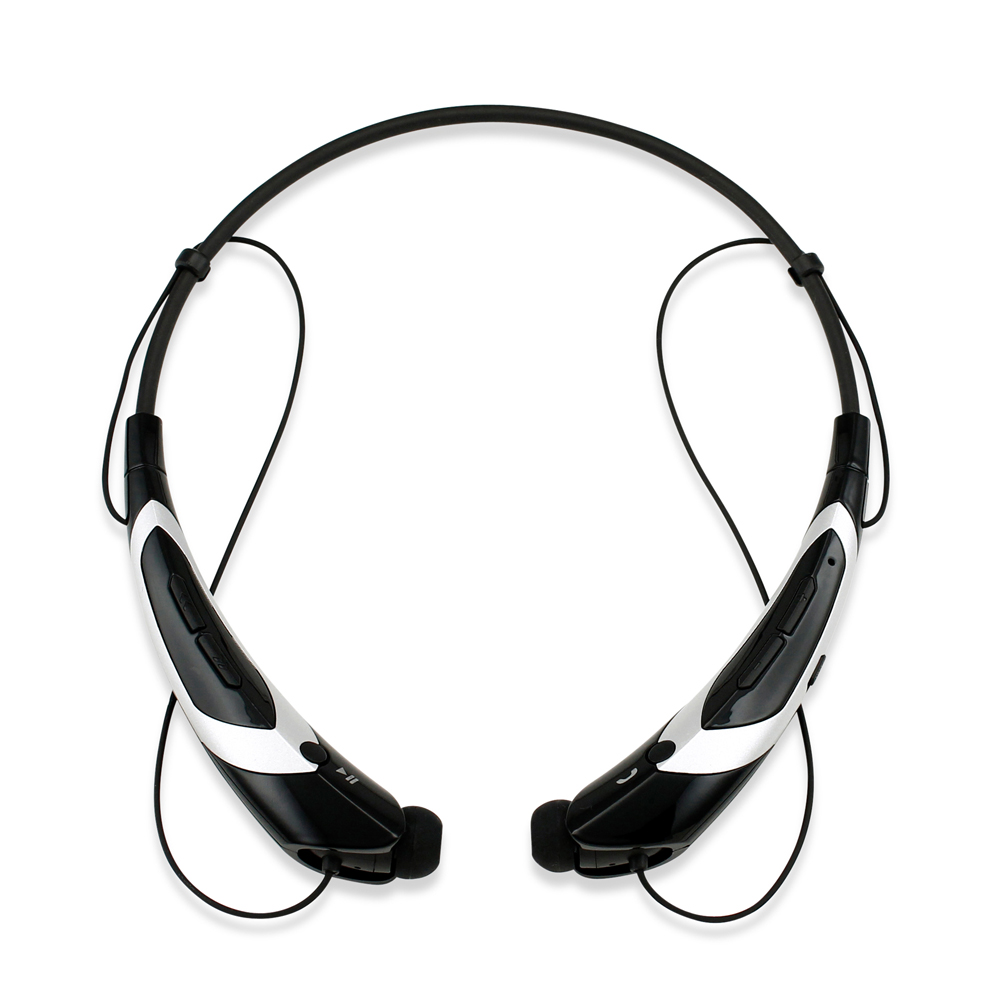 Duotone Sport Wireless Bluetooth Headset Headphone Stereo Handfree Universal Earphone -BlackSilver