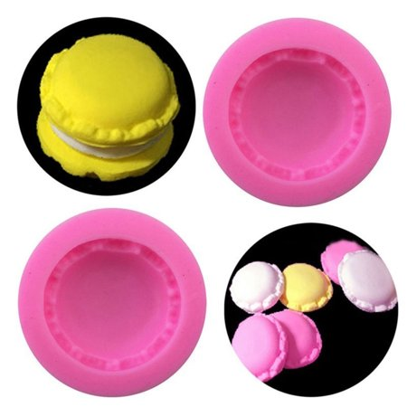 Cheers 3D Macaron Silicone Mold Fondant Cake Polymer Clay Chocolate Decoration DIY Tool - image 5 of 7