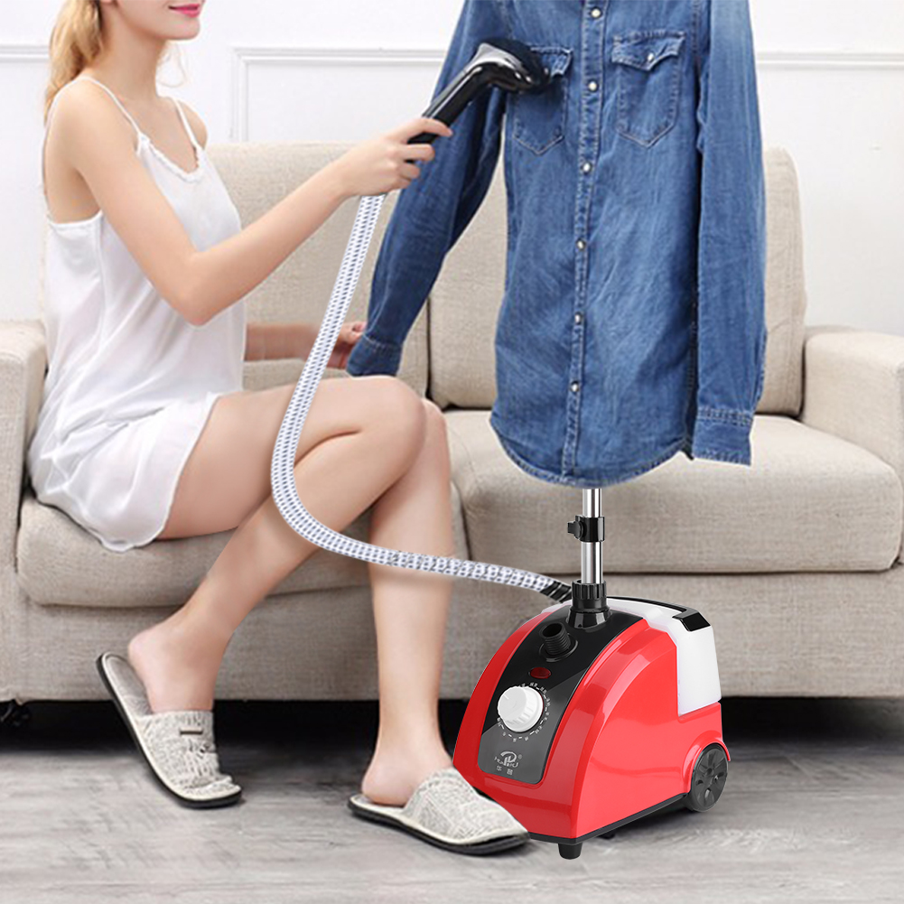 Clothes Steamer 110V 1.7L Standing Clothes Steamer Wrinkle Remove Portable Fabric Steamer... by