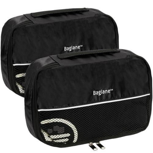 Baglane Black TechLife Nylon Luggage Travel Packing Cube Bags -2pc Set (Small)