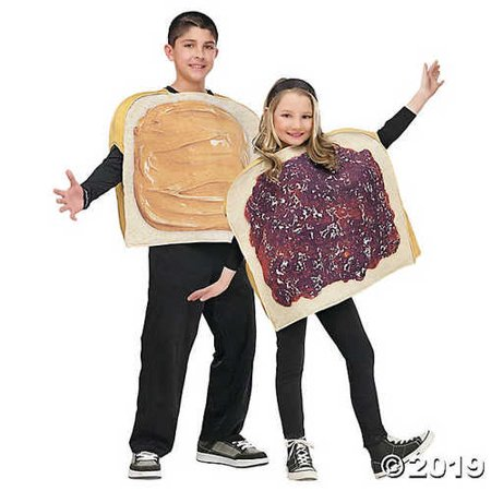 Peanut Butter And Jelly Halloween Costumes (Kid's Peanut Butter N Jelly)