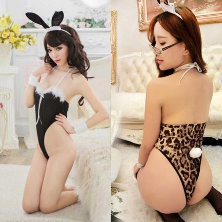 Rabbit Costume Women (Women Sexy Rabbit Uniform Bunny Festival Party-Cosplay Costume Sexy Lingerie)
