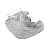 Sunbeam Renue Heat Therapy Neck and Shoulder Wrap Heating Pad, Grey