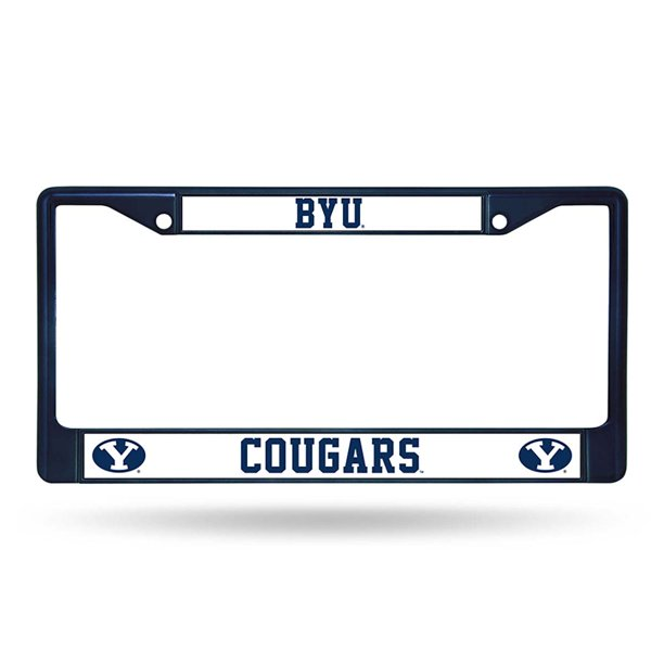 BYU Cougars Colored Chrome Frame (Navy)