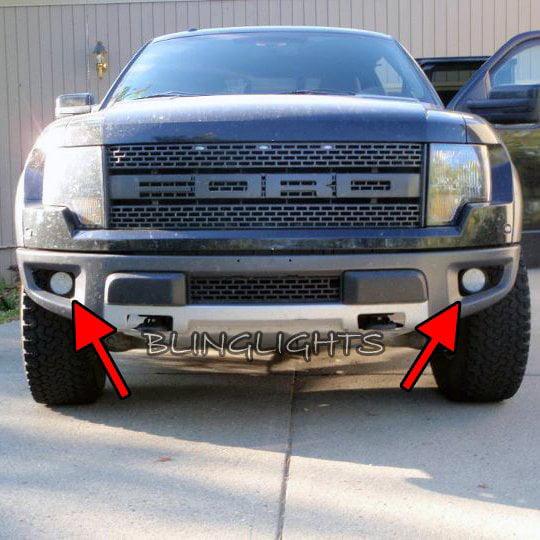 Ford F  Raptor Svt Led Fog Lamps Driving Lights Kit F Foglamps Foglights Drivinglights