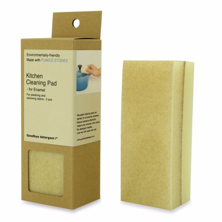 Goodbye Detergent! Kitchen Cleaning Pad for Enamel Cookware - Set of 2 Goodbye Static Pad