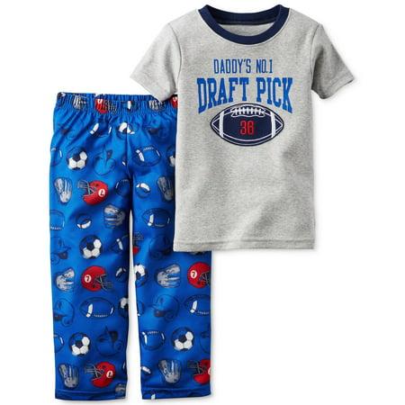 3eb24e88f12a Carter s - Carter s 2 piece Pajama Set Daddy s Draft Pick - Walmart.com