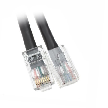 ACCL 3ft Cat5e RJ45 Bootless Ethernet Lan Cable, Black, 1pk Our Cat5e Bootless Snagless Network Patch Cable offers universal connectivity to computers and network components, such as routers, switch boxes, network printers, network attached storage (NAS) devices, VoIP phones, and PoE devices. These Cat5e Bootless Snagless Network Patch Cable offers universal connectivity to computers and network components, such as routers, switch boxes, network printers, network attached storage (NAS) devices, VoIP phones, and PoE devices. Specifications:  Cable Type: CAT5E 4-Pair UTP  Outside Diameter: 5.8  0.3 mm (0.23  0.01 inch)  Connector Type: RJ45  UL Listed, TIA/EIA 568-C.2 Verified, RoHS Compliant  Power over Ethernet (PoE) and Voice over IP (VoIP) Compliant